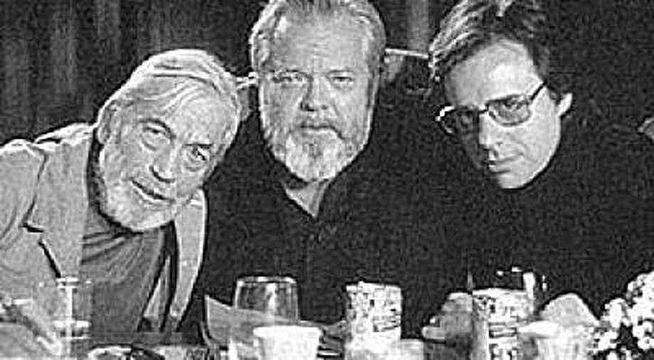 John Huston, Orson Welles and Peter Bogdanovich. Date unknown Photo: Wordpress.com