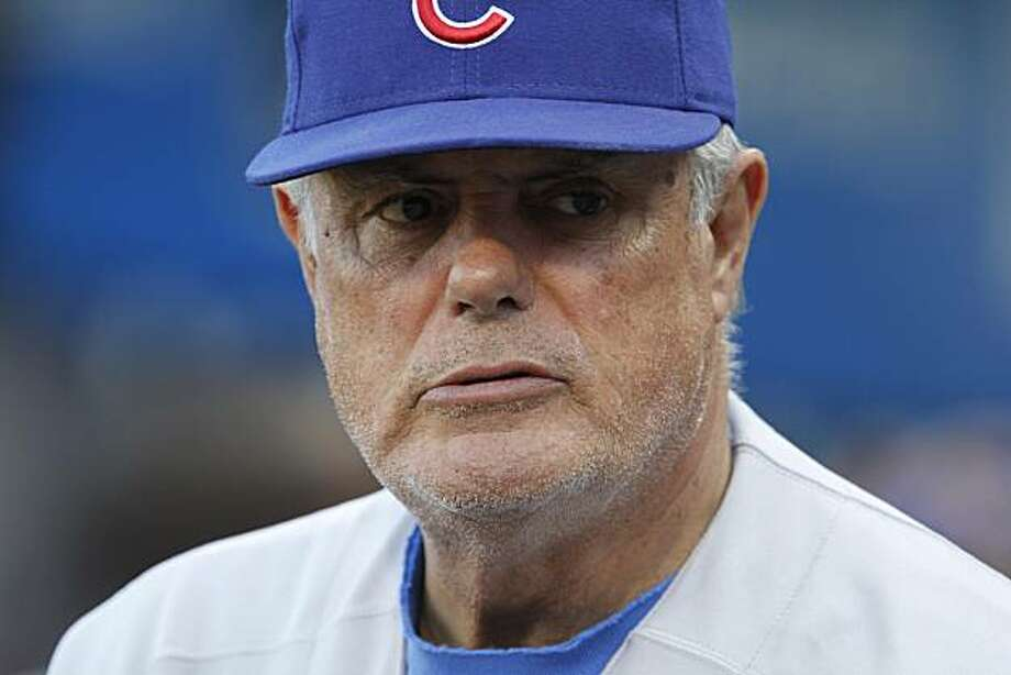 Chicago Cubs manager Lou Piniella talks with reports before a baseball game against the Pittsburgh Pirates, Wednesday, May 5, 2010 in Pittsburgh. The Pirates won 4-2. Photo: Gene J. Puskar, AP