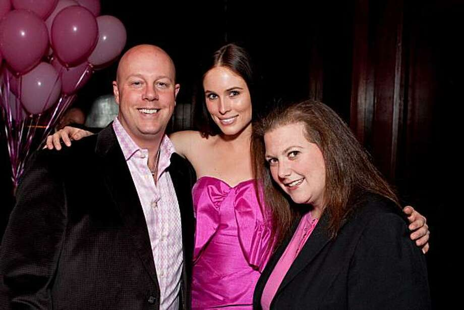 cq'd: Eric Shangle, Brooke Fraser and Katherine Solomon at the Breast Cancer Emergency Fund's annual Pink Party on Feb. 24 at the Clift Hotel in San Francisco. Photo: Drew Altizer, Drew Altizer Photography