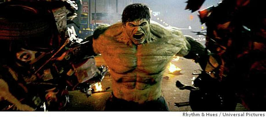 The unbridled force of rage known as The Hulk protects New Yorkers in an all-new, explosive and action-packed epic of one of the most popular Super Heroes of all . Photo: Rhythm & Hues, Universal Pictures