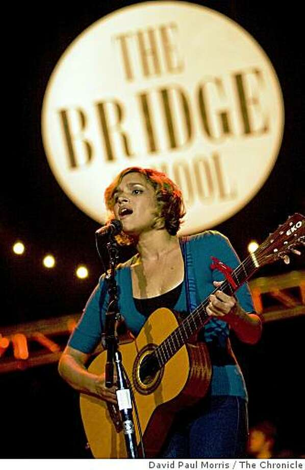 Norah Jones performs at the 22nd annual Bridge School Benefit Concert at the Shoreline Amphitheatre October 25, 2008 in Mountain View, California. Photograph by David Paul Morris / The Chronicle Photo: David Paul Morris, The Chronicle