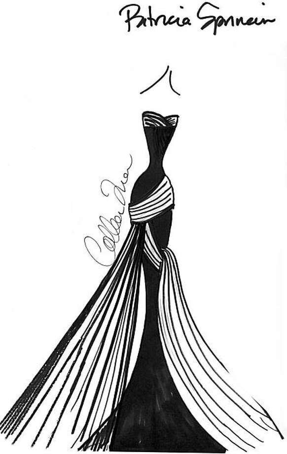 The San Francisco Symphony held an online contest so Internet users could vote online as to which of three gowns designed by San Francisco clothing designer Colleen Quen should be worn to the 2010 Black & White Ball by Chairwoman Patricia Sprincin. This design is the one that garnered the most votes from the public. Photo: Courtesy Colleen Quen