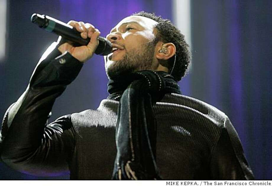 John Legend at the Greek Theatre in Berkeley in 2007. Photo: MIKE KEPKA,, The San Francisco Chronicle