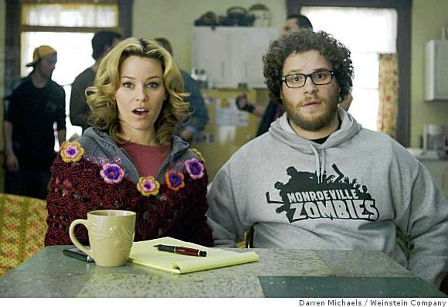 "Elizabeth Banks and Seth Rogen, in ""Zack and Miri Make a Porno,"" written and directed by Kevin Smith. Photo: Darren Michaels, Weinstein Company"