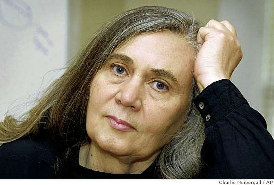 "In this Nov. 9, 2004 file photo, author Marilynne Robinson speaks during an interview in Iowa City, Iowa. Robinson received a National Book Award nomination, Wednesday, Oct. 15, 2008, for ""Home,"" a companion novel to her Pulitzer Prize-winning ""Gilead"".  Winners will be announced Nov. 19. (AP Photo/Charlie Neibergall, file) Photo: Charlie Neibergall, AP"
