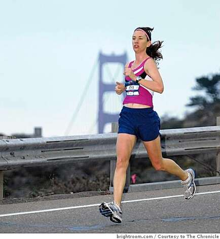 Arien O'Connell runs the Nike's Woman Marathon course on Sunday, October 19, 2008 in San Francisco, Calif. Photo: Brightroom.com, Courtesy To The Chronicle