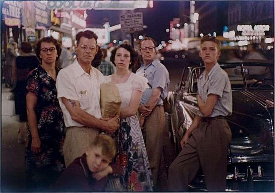 """Family Times Square, N.Y.C."" (1950) dye-transfer print by Louis Faurer Photo: Louis Faurer, Fraenkel Gallery, S.F."