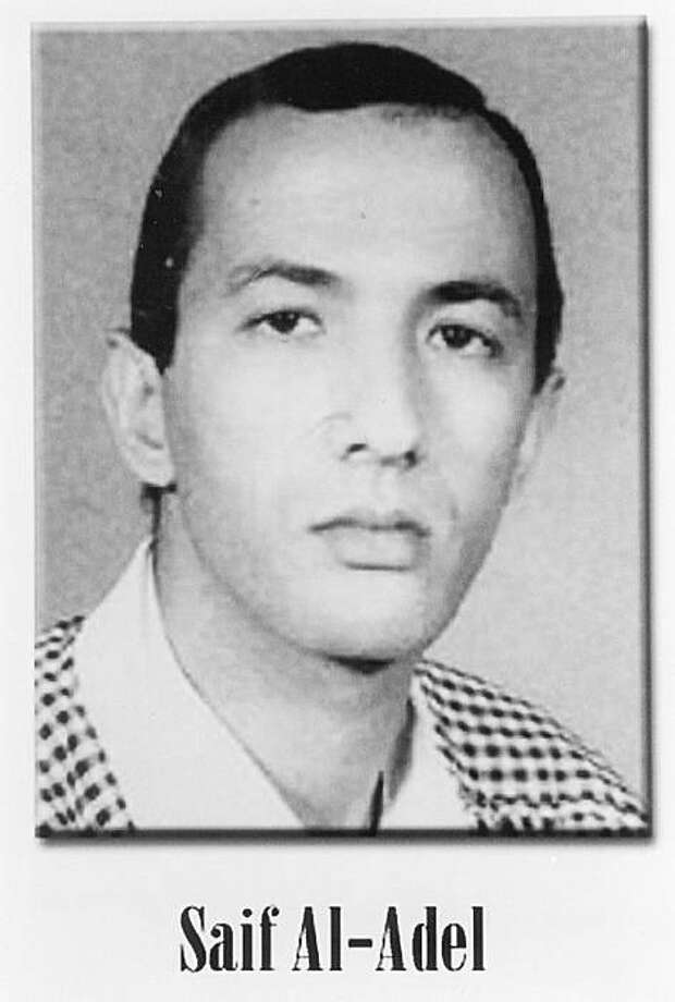 In this image released by the FBI, Saif al-Adel is one of the FBI's most wanted terrorists. He is believed to be living in Iran with other senior al-Qaida leaders. Lately, US intelligence officials have seen a trickle of lower-level terror operatives leaving Iran, raising concerns that Iran is easing its grip on al-Qaida. Intelligence reports have circulated that al-Adel was traveling out of Iran, though a senior counterterrorism official says there's no clear evidence of that. Photo: AP
