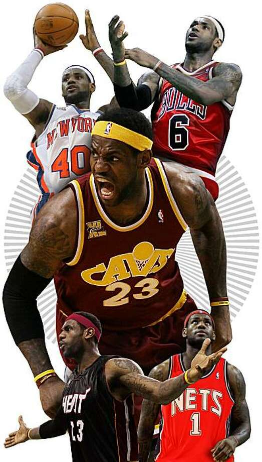 photo illustration for story on LeBron James' future plans . Photo: Tracy Cox