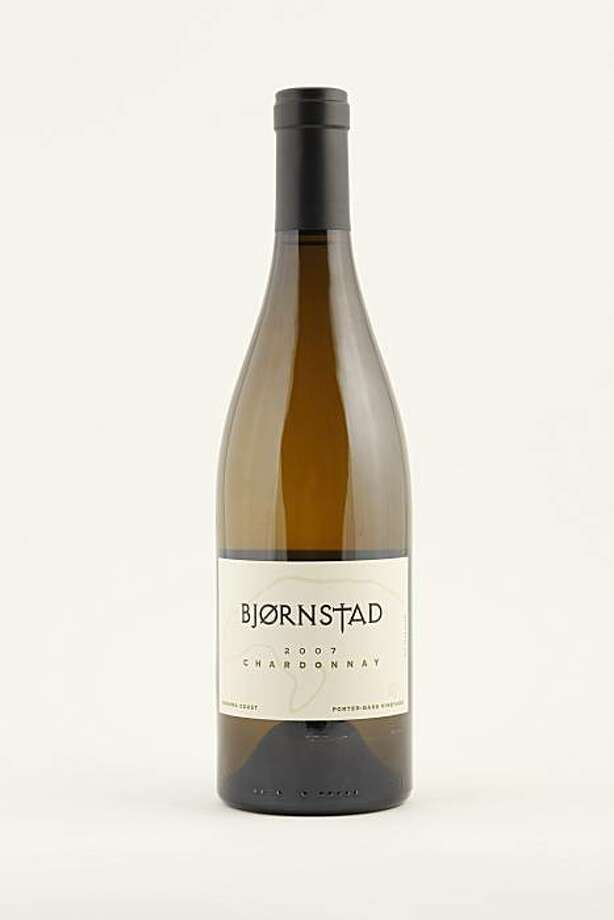 2007 Bjornstad Porter-Bass Vineyard Sonoma Coast Chardonnay in San Francisco, Calif., on May 12, 2010. Photo: Craig Lee, Special To The Chronicle