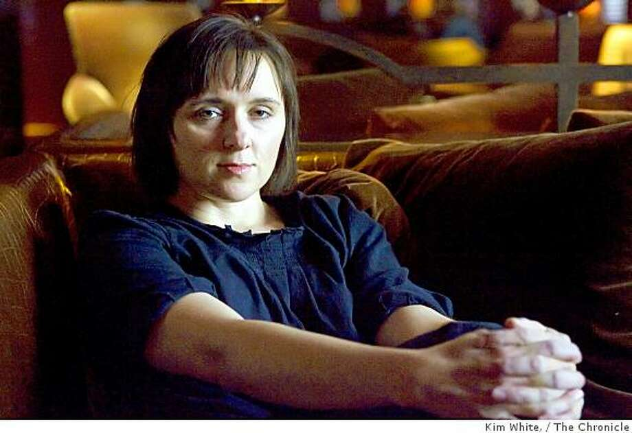 Sarah Vowell, writer and humorist, sits in the Clift hotel lobby in San Francisco , Calif., on Saturday, October 18, 2008. Photo: Kim White,, The Chronicle