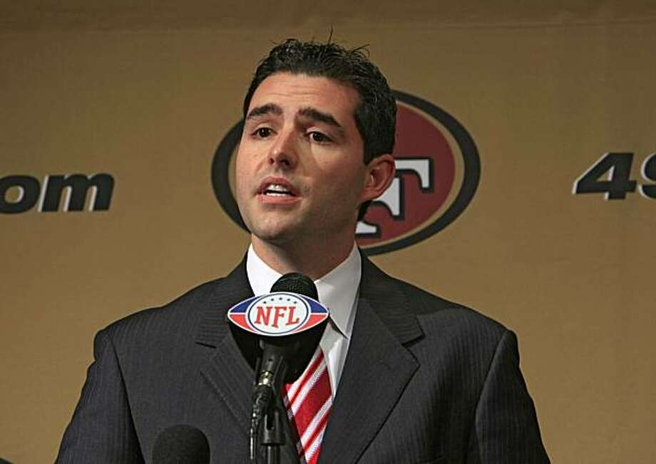 VP of the San Francisco 49ers Jed York named Mike Singletary the head coach of the San Francisco 49ers for the reminder of the season during a press conference on Tuesday October 21, 2008. Photo: Frederic Larson, The Chronicle