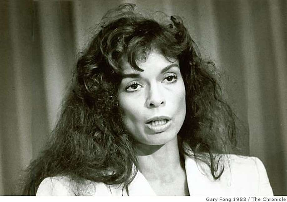October 28, 1983 - Bianca Jagger, activist and former wife of Mick Jagger. Photo: Gary Fong 1983, The Chronicle