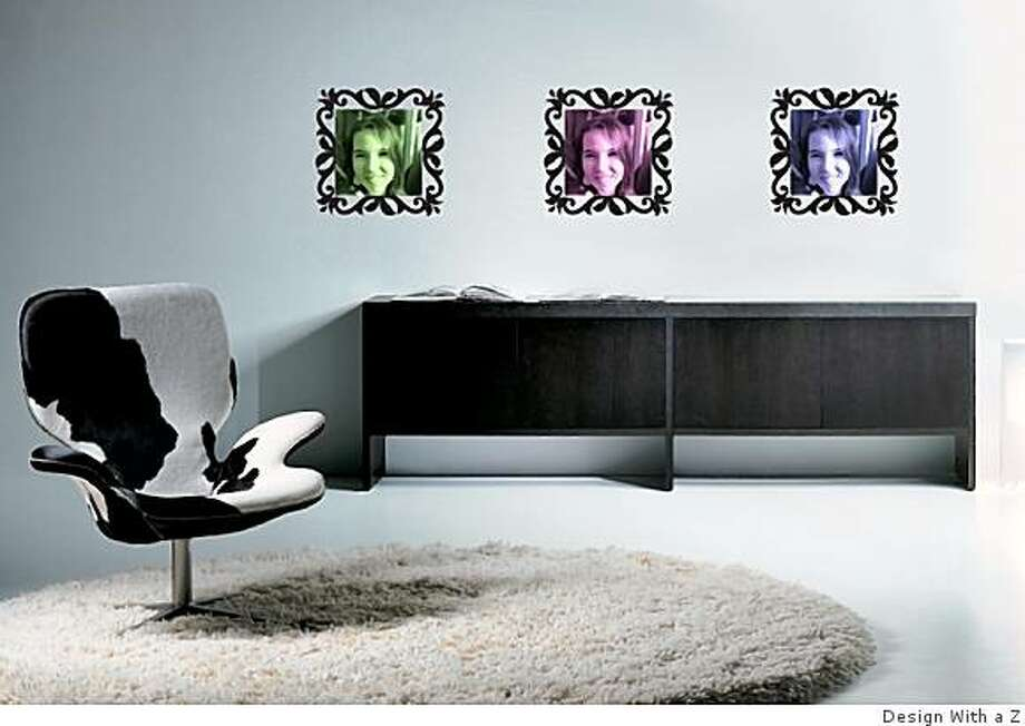picture frames decal Photo: Design With A Z