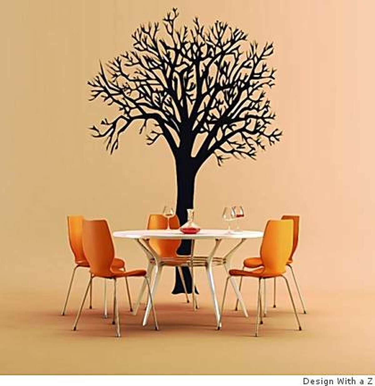 Tree decal from Design With a Z, SF, Paris, Moscow