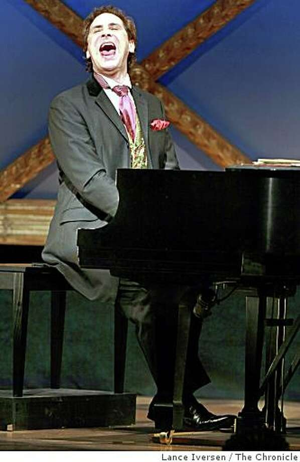 "Preivew performance of ""Russian on the Side,"" solo show by madcap pianist/monologist Mark Nadler at Marines Memorial Theatre. October 16, 2008 in San Francisco Calif. Photo: Lance Iversen, The Chronicle"
