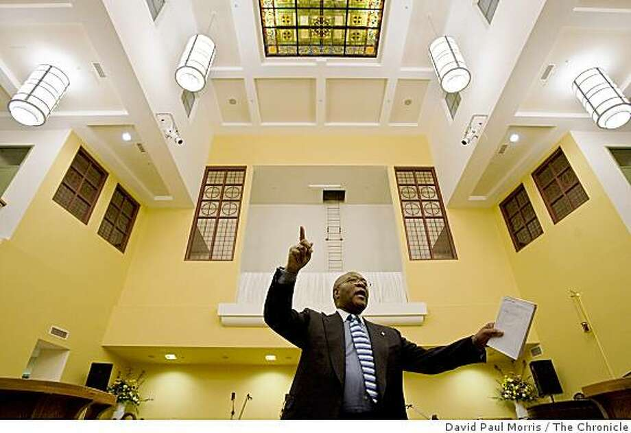 Reverend Dr. Amos Brown speaks to people gathered at the Jones United Methodist Church to participate in a worship and panel discussion about marriage equality on October 18, 2008 in San Francisco, Calif. Photo: David Paul Morris, The Chronicle