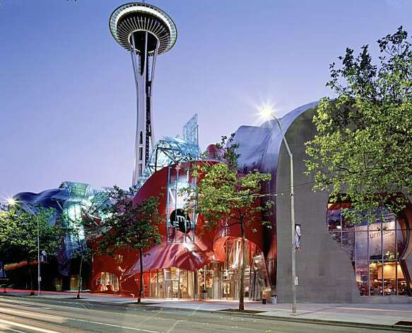 "The exterior of Seattle's new Science Fiction Museum and Hall of Fame, in this undated photo, is set to open on June 18, 2004. The new museum, dedicated to the literature, film and television of science fiction is filled with exhibits and artifacts on the literature and film of outer space, time travel and aliens. Included are the first edition of H.G. Well's ""Time Machine"" and the Alien queen from the movie ""Alien."" REUTERS/Science Fiction Museum and Hall of Fame/Handout Photo: Science Fiction Museum And Hall"
