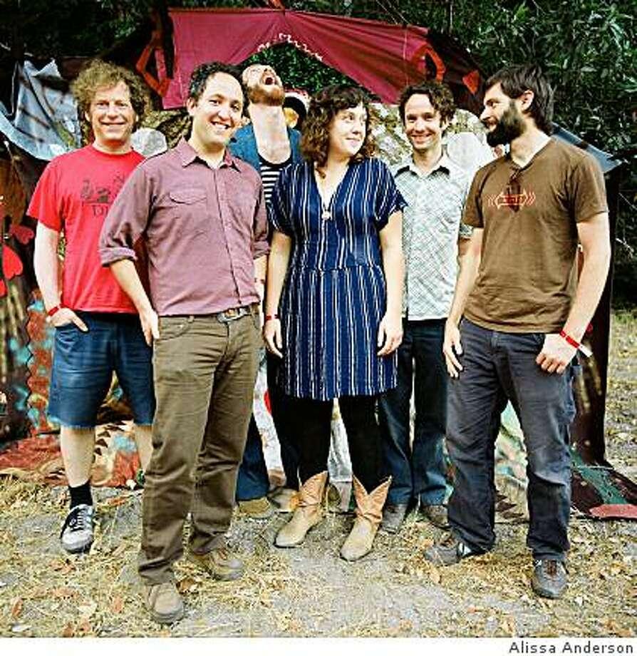 Citay are (right to left) Diego Gonzalez, Warren Huegel, Tahlia Harbour, Sean Smith, Ezra Feinberg and Joshua Pollock. Photo: Alissa Anderson