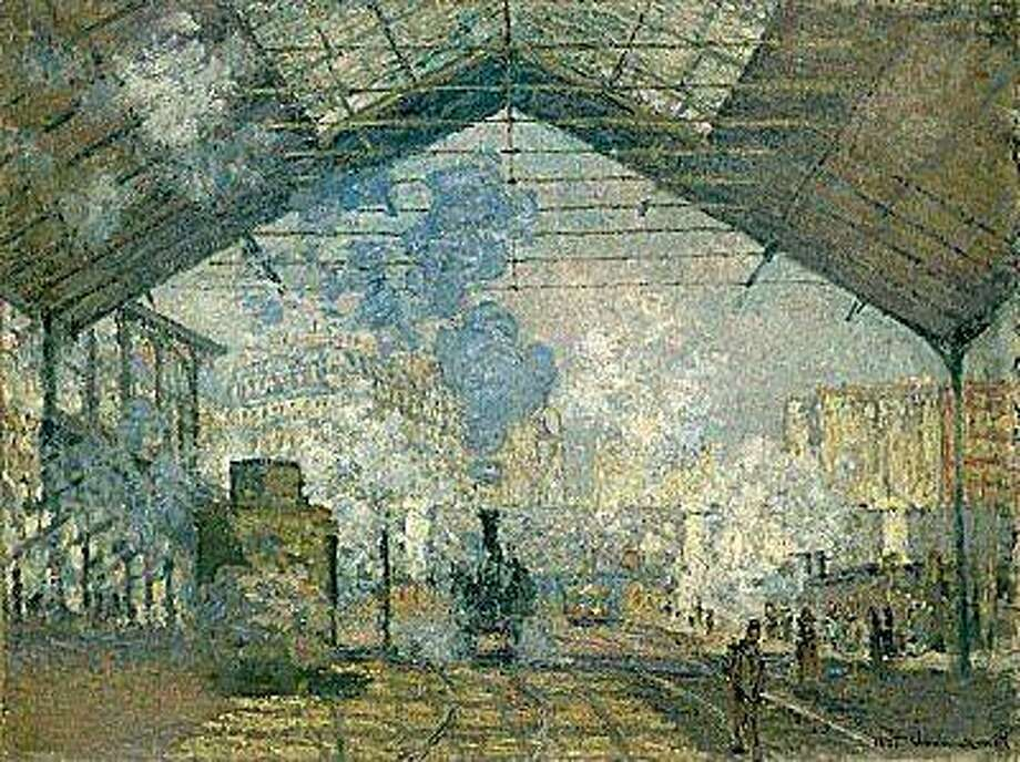 The Gare Saint-Lazare.  1877.  Claude Monet (1840-1926).  Oil on canvas, 29 ¾ x 41 inches.  RMN (Musée d'Orsay)/Hervé Lewandowski The Saint-Lazare Station. Photo: Hervé Lewandowski, Musée D'Orsay