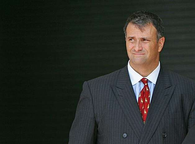 18 Aug 2005, MIAMI, FL, USA --- Washington lobbyist Jack Abramoff leaves the courthouse in Miami August 18, 2005.  Abramoff, a central figure in investigations involving House Majority Leader Tom Delay, plans to fight charges he defrauded two lenders of $60 million to buy a casino cruise line, his lawyer said on Thursday. Abramoff, a well-connected Republican lobbyist, and Adam Kidan, his partner in the $147.5 millions buyout of SunCruz Casino five years ago, were indicted by a federal grand jury in Fort Lauderdale, Florida, on August 11.  --- Image by © CARLOS BARRIA/Reuters/Corbis Photo: Carlos Barria, Reuters/Corbis