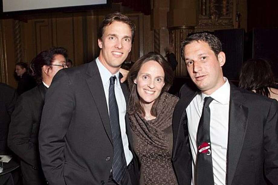 Tipping Point Board President Alec Perkins (left) with SF Child Abuse Prevention Center Director Katie Albright and Tipping Point Founder Daniel Lurie. May 2010. By Drew Altizer. Photo: Drew Altizer, Special To The Chronicle