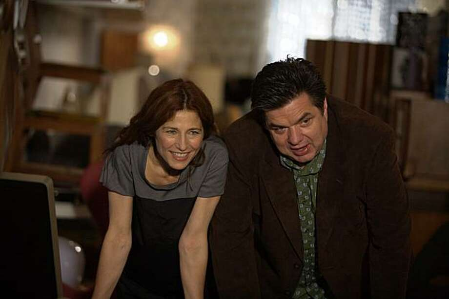 """In this film publicity image released by Sony Pictures Classics, : Catherine Keener, left, and Oliver Platt are shown in a scene from """"Please Give."""" Photo: Piotr Redlinski, AP"""