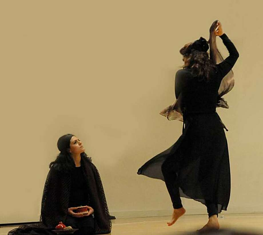 Gabriela Chavez (l) and Nazila Ghazi retell the tales of  women storytellers in the ancient Middle East. Photo: ARTSHIP Ensemble