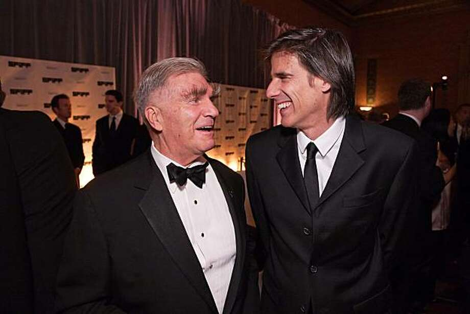 SFFS Board Chairman George Gund III (left) and director Walter Salles at the Film Festival Awards Gala. April 2010. By Drew Altizer. Photo: Drew Altizer, Special To The Chronicle