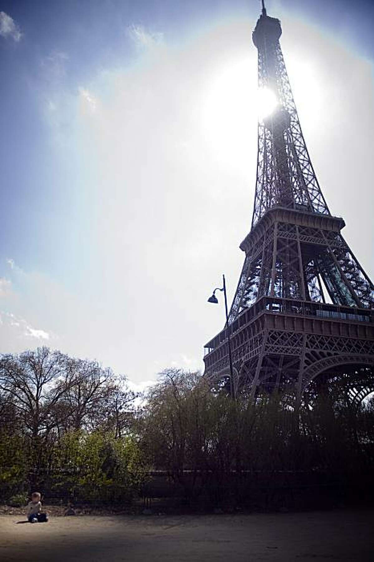 The Eiffel Tower is pictured in Paris on April 9, 2009, the second day that the 120-year-old tower is closed to visitors after staff went on strike to demand better work conditions at one of the world's most visited tourist sites.Employees were to hold talks with the Paris landmark's management today to discuss their demands for improvements to visitor services and better job security. AFP PHOTO / Martin Bureau (Photo credit should read MARTIN BUREAU/AFP/Getty Images)