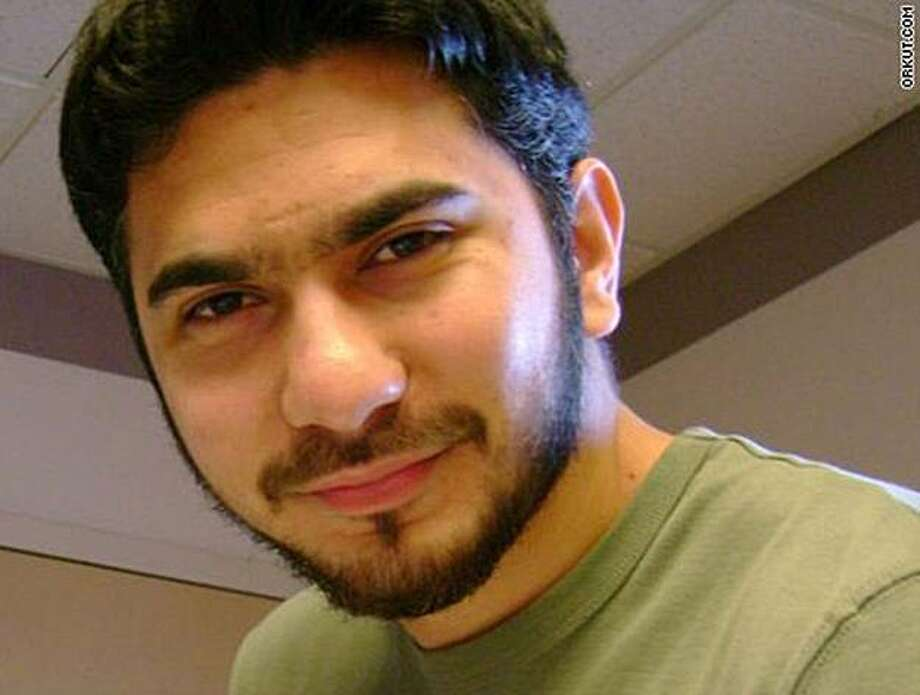 In this photo from the social networking site Orkut.com, a man who was identified by neighbors in Connecticut as Faisal Shahzad, is shown. Shahzad was arrested at a New York airport on charges that he drove a bomb-laden SUV meant to cause a fireball in Times Square, federal authorities said. Shahzad, was taken into custody late Monday by FBI agents and New York Police Department detectives at Kennedy Airport while trying to board a flight to Dubai, according to U.S. Attorney General Eric Holder and other officials. (AP Photo/Orkut.com) NO SALES Photo: Orkut.com, AP