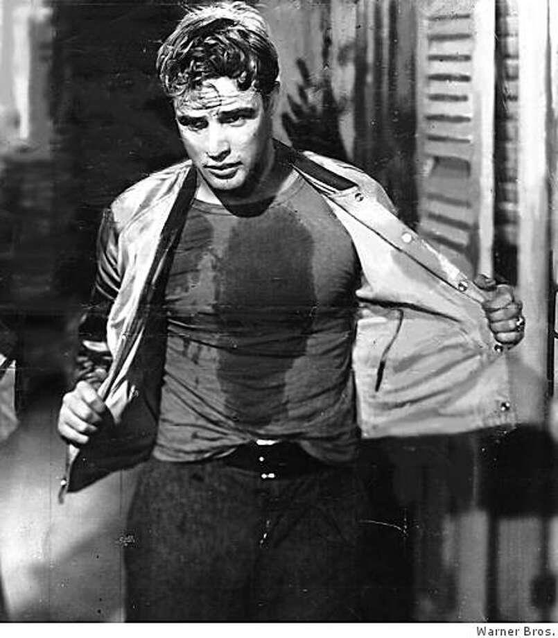 "Marlon Brando in ""A Streetcar Named Desire"" (1951). Photo: Warner Bros."