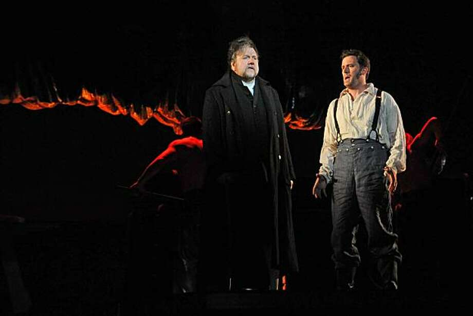 "Ben Heppner (l.) as Ahab and Morgan Smith as Starbuck in Jake Heggie's 'Moby-Dick"" at the Dallas Opera Photo: Karen Almond"