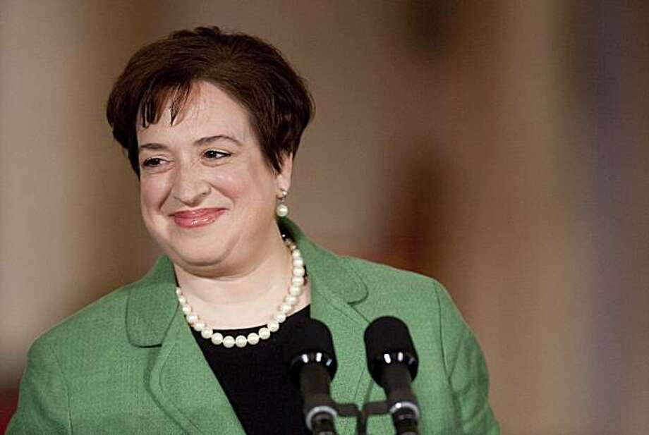 Elena Kagan, U.S. solicitor general, smiles as U.S. President Barack Obama speaks in the East Room of the White House in Washington, D.C., U.S., on Monday, May 10, 2010. Obama said he's nominating Elena Kagan, his top U.S. Supreme Court lawyer and the former dean of Harvard Law School, to fill a vacancy on the high court, saying she will bring to the job independence and integrity. Photographer: Andrew Harrer/Bloomberg *** Local Caption *** Elena Kagan Photo: Andrew Harrer, Bloomberg