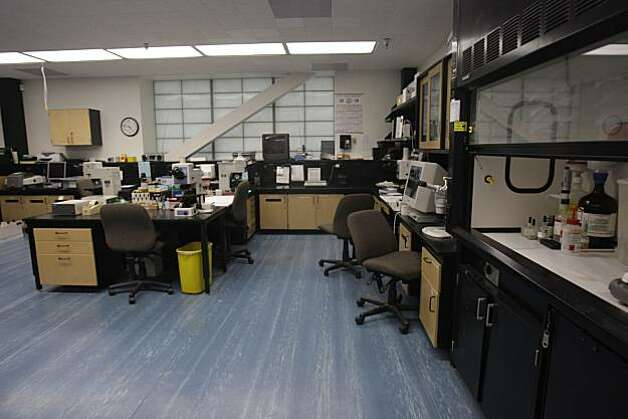 The narcotics/chemical analysis unit is seen during a media tour of the Crime Lab in San Francisco, Calif. on Wednesday, March 10, 2010. Photo: Lea Suzuki, The Chronicle