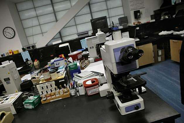 Equipment is seen in the narcotics/chemical analysis unit during a media tour of the Crime Lab in San Francisco, Calif. on Wednesday, March 10, 2010. Photo: Lea Suzuki, The Chronicle