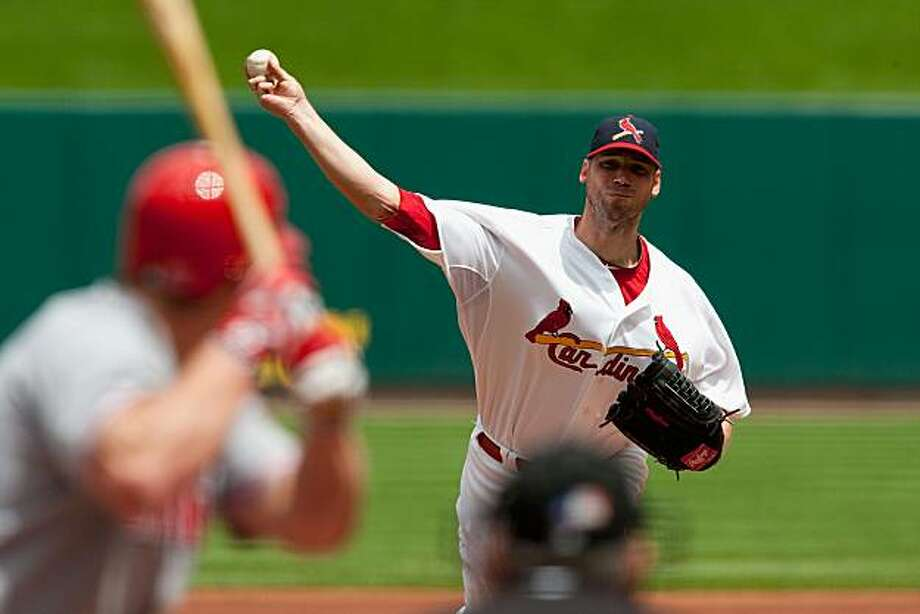 ST. LOUIS - MAY 2: Starting pitcher Chris Carpenter #29 of the St. Louis Cardinals throws against the Cincinnati Reds at Busch Stadium on May 2, 2010 in St. Louis, Missouri. The Cardinals beat the Reds 6-0. Photo: Dilip Vishwanat, Getty Images