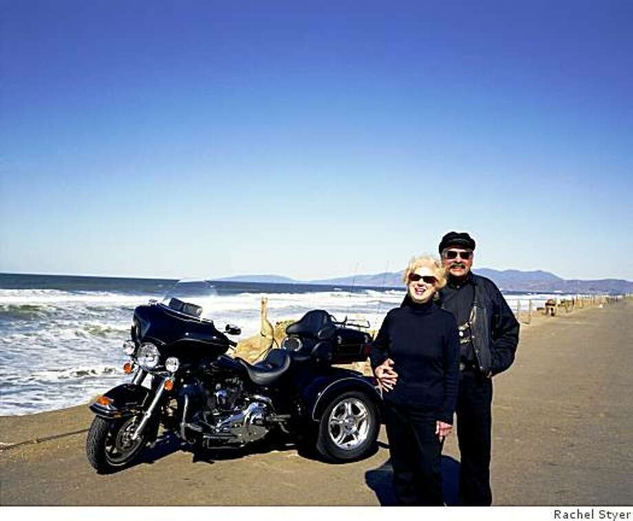 Art Montero, Sr., and his wife love riding around the country together on motorcycle. They've converted their Black HD Ultra Classic to a trike so that Art can still pursue his love of riding, despite medical issues. Photo: Rachel Styer