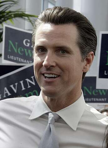 San Francisco Mayor and candidate for Lieutenant Governor Gavin Newsom walks through the crowd at the California Democratic Convention in Los Angeles Saturday, April 17, 2010. Photo: Reed Saxon, AP