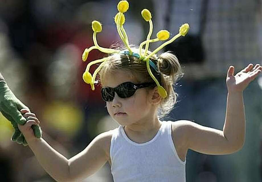 A youngster marches in the annual Luther Burbank Rose Parade & Festival in Santa Rosa. Photo: Miles Ferris, Special To The Chronicle