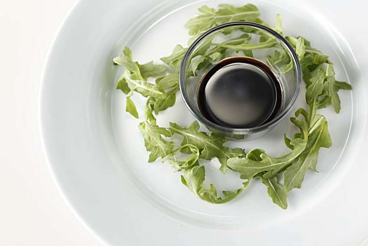 Balsamic Vinegar and Arugula in San Francisco, Calif., on May 5, 2010. Food styled by Katie Popoff.