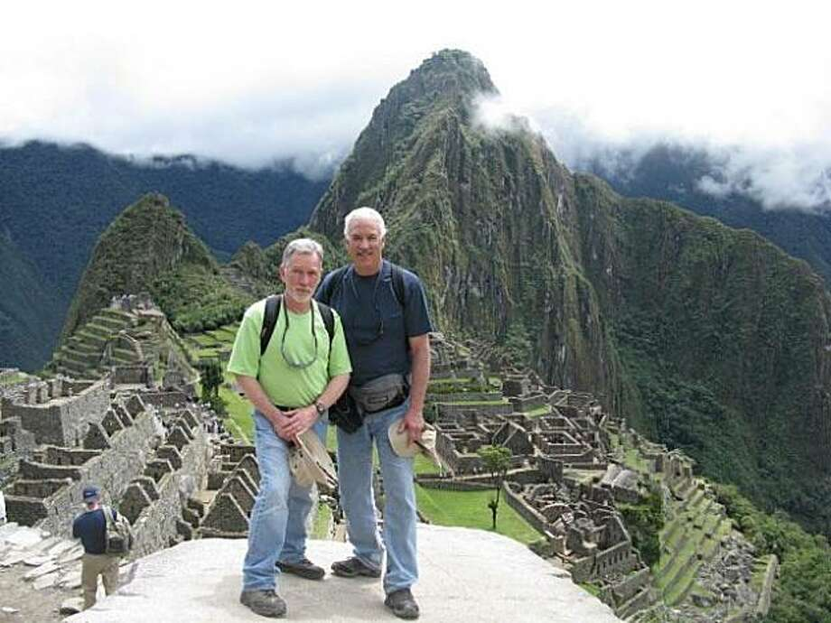 Tom Martin and Mitch Terkildsen at Machu Picchu, Peru. Photo: N/a