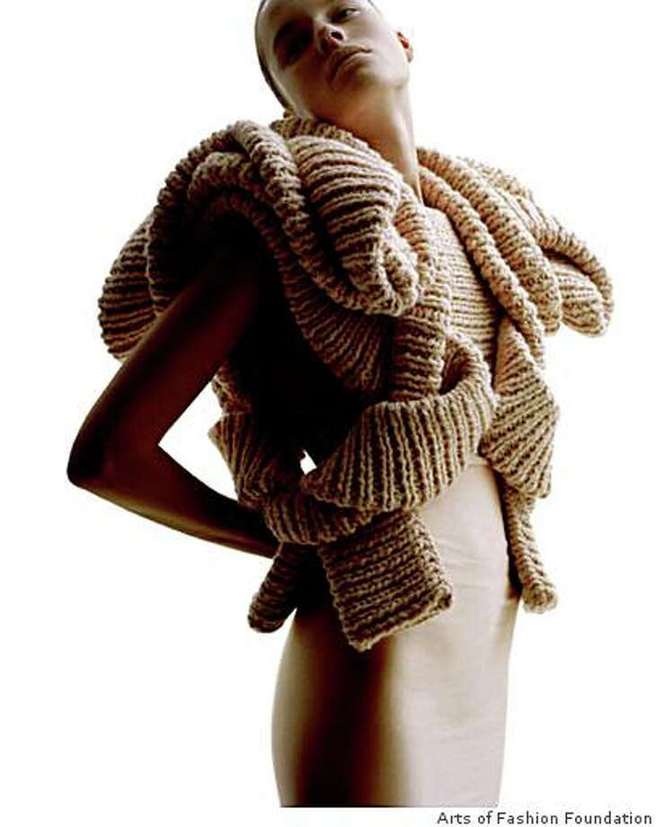 A sculptural knitted sweater by Stockholm knitwear designer Sandra Backlund who will teach a master class at the Oct. 25-29 Arts of Fashion Foundation fashion event in S.F. Photo: Arts Of Fashion Foundation