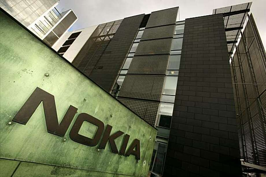 "(FILES) File photo taken October 18, 2007 shows Nokia's Research centre in Helsinki. Nokia, the world's biggest mobile phone maker, took on the iconic iPhone on October 22, 2009 by suing US rival Apple for infringing 10 Nokia patents on mobile phone technology. ""The patents cover wireless data, speech coding, security and encryption and are infringed by all Apple iPhone models shipped since the iPhone was introduced in 2007,"" Nokia said in a statement. AFP PHOTO / FILES /  LEHTIKUVA / Antti Aimo-Koivisto   ***FINLAND OUT*** (Photo credit should read ANTTI AIMO-KOIVISTO/AFP/Getty Images) Photo: Antti Aimo-koivisto, AFP/Getty Images"