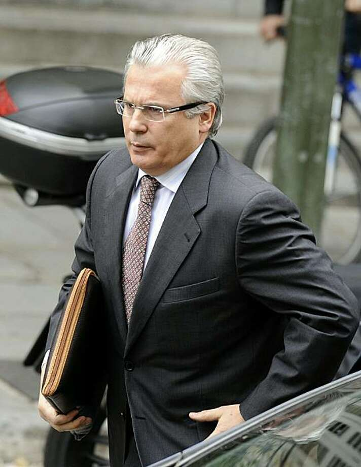 Spanish judge Baltasar Garzon arrives at Madrid's Supreme Court  on May 10, 2010, to appear over the legality of eavesdropping he ordered as part of a corruption probe into conservative politicians, one of three cases currently against him. Photo: Dominique Faget, AFP/Getty Images