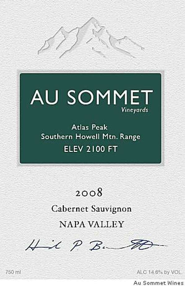 Mockup of the label of the new Au Sommet wine from Napa Valley. Photo: Au Sommet Wines