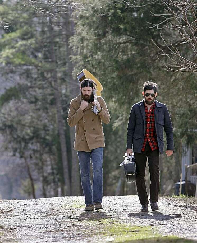 In this Jan. 27, 2010 photo, Seth Avett, left, and his brother Scott Avett of The Avett Brothers band, is shown in Concord, N.C. Photo: Chuck Burton, AP