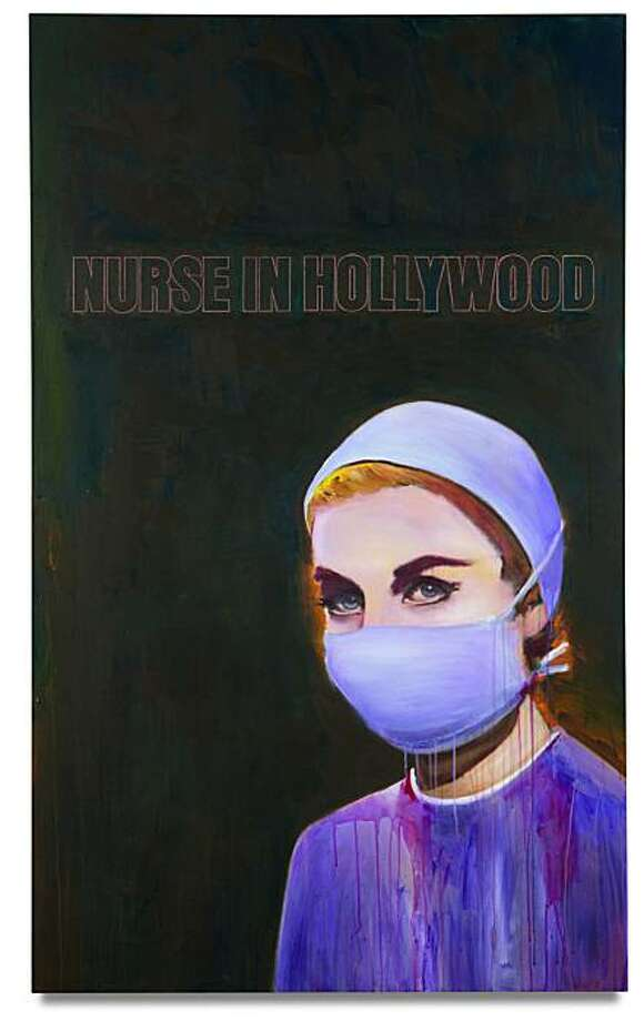 "Richard Prince's ""Nurse in Hollywood #4"", currently owned by Halsey Minor, is going on the auction block with an estimated price of $5-7 million. Photo: Courtesy, Phillips De Pury & Company"