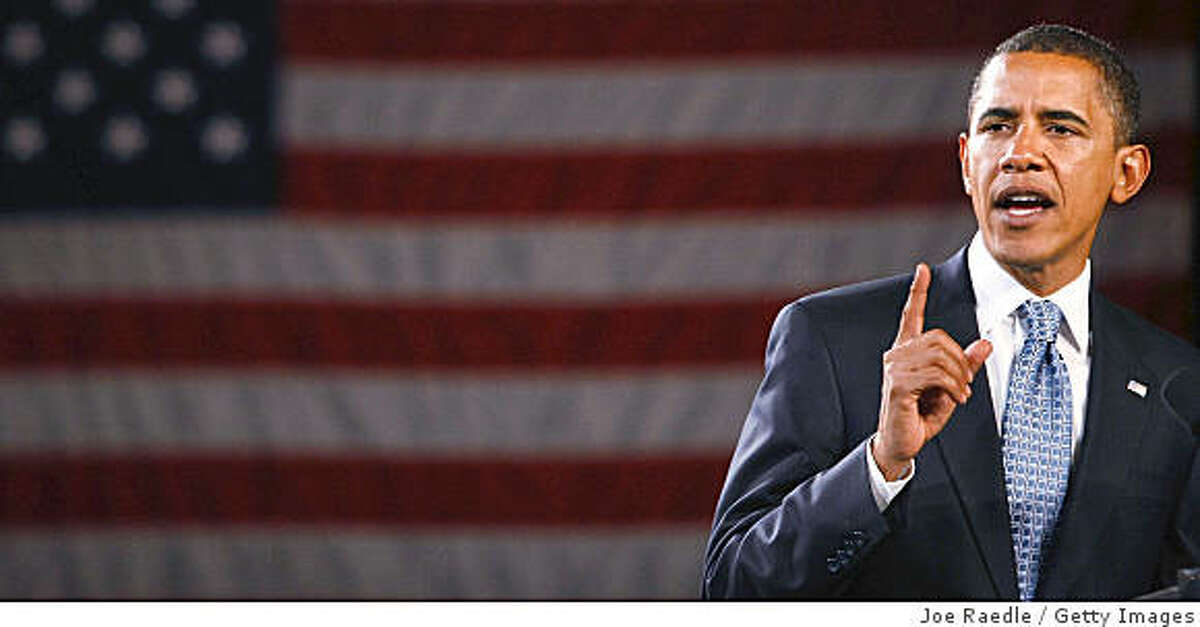TOLEDO, OH - OCTOBER 13: Democratic presidential nominee U.S. Sen. Barack Obama (D-IL) speaks during a campaign event at SeaGate Convention Centre October 13, 2008 in Toledo, Ohio. Obama continues to campaign ahead of Election Day as he runs against his Republican challenger, Sen. John McCain (R-AZ). (Photo by Joe Raedle/Getty Images)