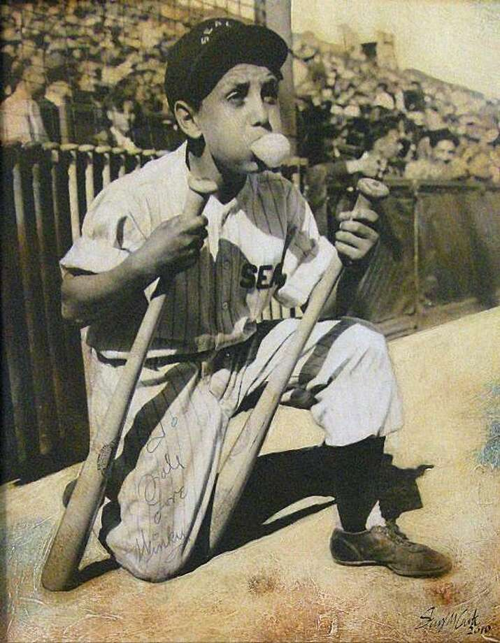 """Stacey Carter """"Winky, San Francisco Seals, 1946"""" is among the works celebrate the national pastime, past and present, in """"The Art of Baseball."""" Photo: George Krevsky Gallery"""